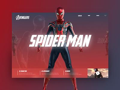 Avengers #4 uidesign uidaily ui mondrianizm avengersendgame avengers endgame slider avengers