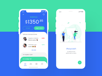 Fintech app #1 app cash fintech app design ui ux uidesign uxdesign colorfull illustration branding design