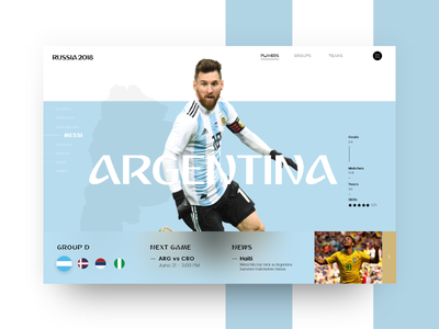 Russia World Cup - Argentina (Group D) russia world cup argentina slider soccer 2018 futbol mundial copa messi