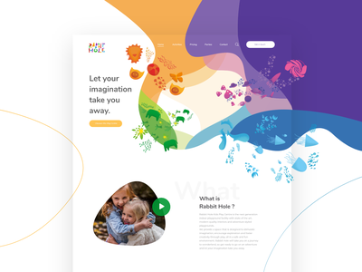 Rabbit Hole Website color verde design uxdesign web green ui ux uidesign colorfull illustration