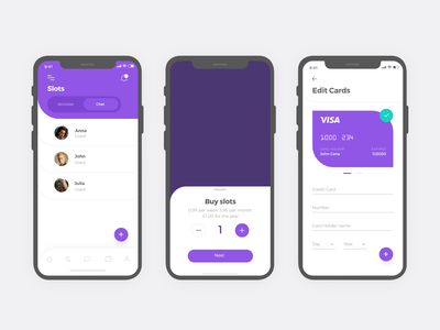Social App #3 uixu uidesign ui uxdesign design app social events cards credit card slot