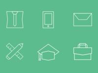 Sharp Line Icons
