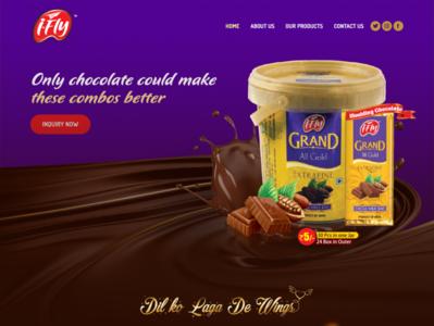 Ifly Chocolate website design chocolate bar new website tranding trand chocolate website app ui web design app design creative design