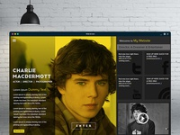 Actor website design