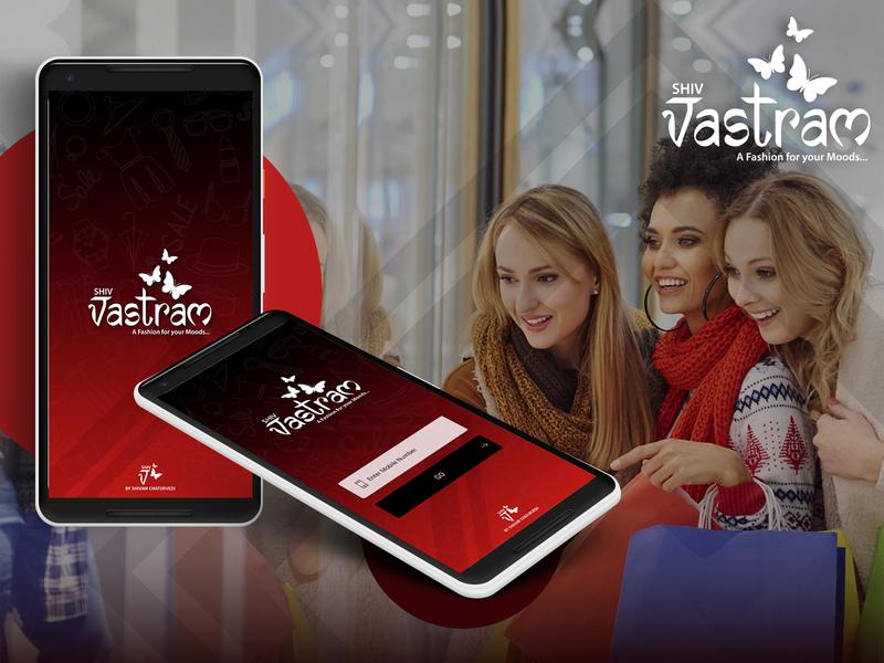 Shiv vastram ui online shopping app ui ecommerce app graphic design creative design ui  ux creative app design