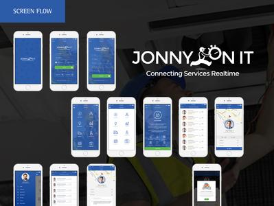 Jonny On It creative app design app ui web design app graphic design creative app app design creative design
