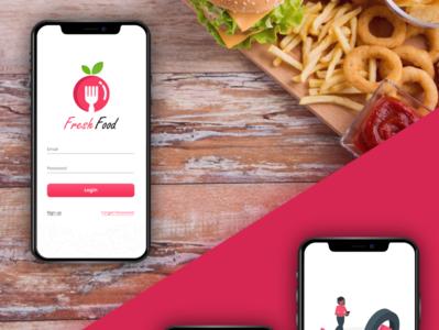 fresh food illustration website design app graphic design ui creative app ui  ux creative app design app ui app design creative design