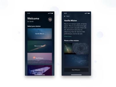 Daily UI 06 Space App