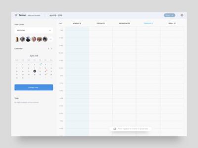 Tasker - Calendar UI
