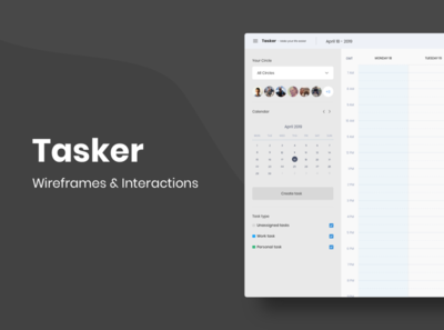Tasks - Wireframes & Interactions