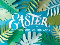 Easter at Victory of the Lamb Postcard Design