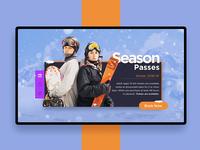 Skiing Booking Landing Page