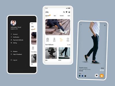 Redesign zara mobile app marketplace shoe fashion shop store app