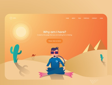 404 Error Page - Misplaced Divers