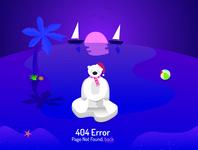 404 error page - misplaced polar bear
