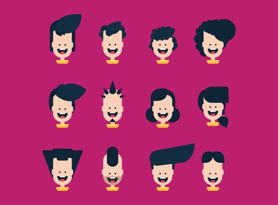 1 face 12 hairstyles