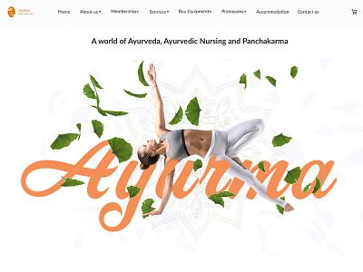 Ayurvedic Treatment Centre typography meditation yoga ui