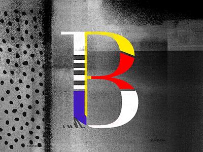 B - Experiments type paint old school texture dots color texture