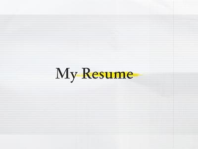 Bleacher Report - My Resumé resume cv yellow and black typography paper texture text resumé