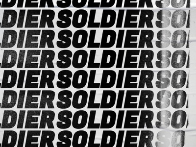 Don't Stop Soldier texture text soldier