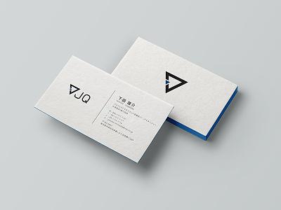 JQ Business Card V2 print logo clean design minimalist simple name card branding white black business card