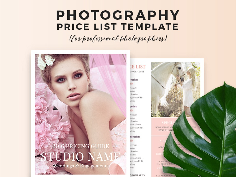 Wedding Photography Pricing Guide Template by BeArt Presets