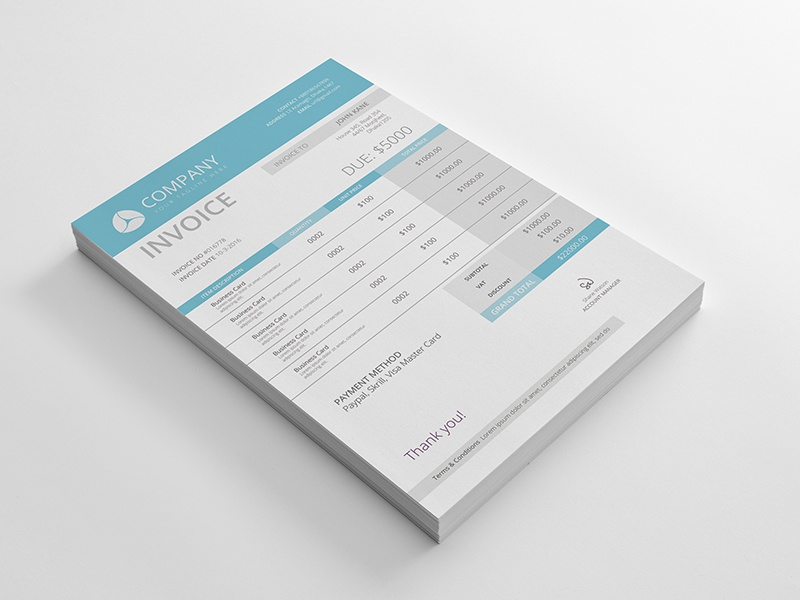 Professional Invoice Template By Al Amin Khan Sojib Dribbble
