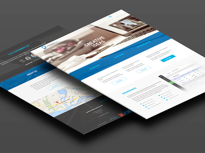 Anotheria – company website design company design web landing flat ui ux background icons