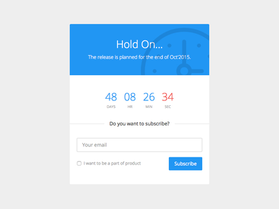 Countdown timer background button field form popup dialog modal time dotted clock countdown timer