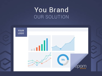 Ad Server flat light background brand monitor macbook mac screens screen preview chart solution