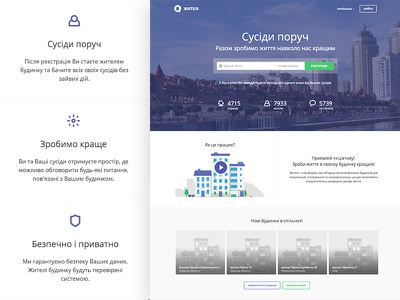 Zyteli – social for neighbors (new design for home) features icons video home social register neighbors building