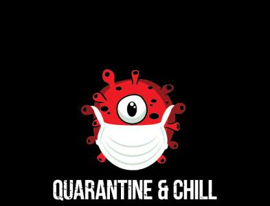 CORONA VIRUS Character illustration masker chill quarantine virus corona covid-19 design illustration