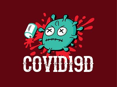 CORONA 04 handsanitizer covid19 vector logo design corona illustration