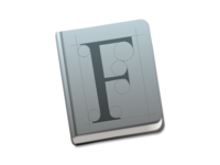 Font Book Icon Mac OS X Yosemite