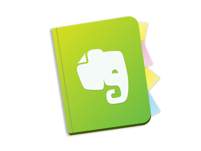 Evernote Yosemite Icon post-it notebook note book elephant icon evernote mac