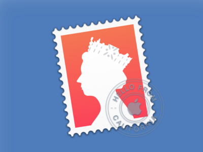 OS X Mail Icon (UK redesign) crown post stamp apple yosemite queen mail mac os x os