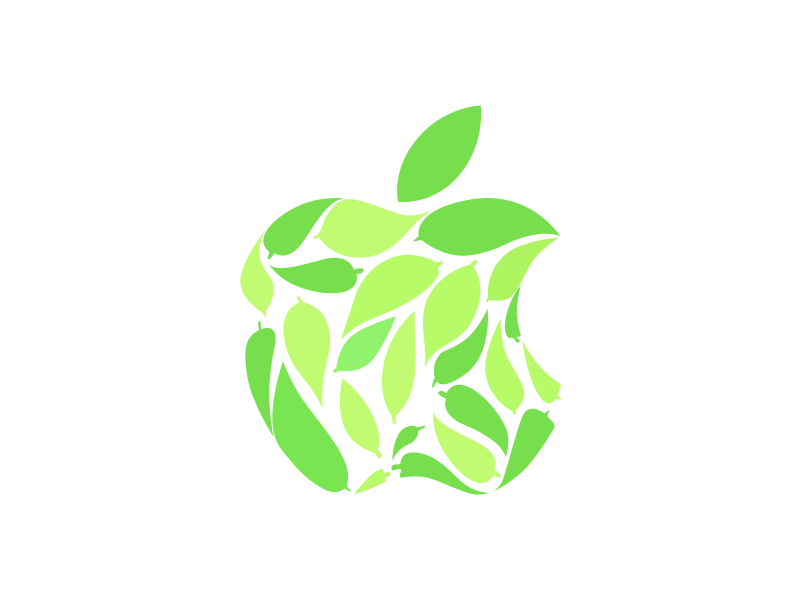 Apple Leaf Logo eco environment leaves omotesando earth green logo leaf apple