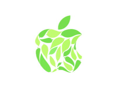 Apple Leaf Logo eco environment leaves omotesando earth green logo leaf apple