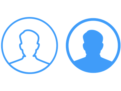 Profile Icons ux vector logo illustration ui app profile design profile image icon profile