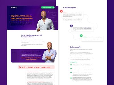 Course Page sales page landing page design purple gradient teaching course adobe xd branding mockup design web design website clean design
