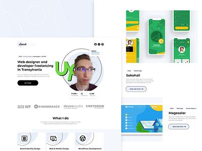 2021 Portfolio Revamp personal portfolio clean design landing page mockup romania designer upwork personal brand adobe xd website design portfolio