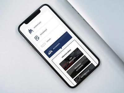Law Mobile clean design mobile design smartphone iphone x design mobile web design