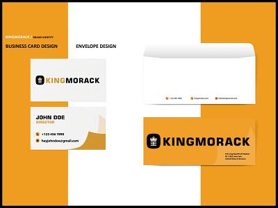 Kingmorack Brand Stationery envelope design businesscard branding concept designer logo white yellow brand design brand identity branding stationery design stationery design