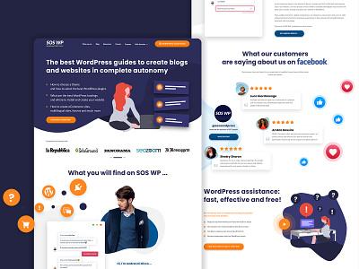 SOSWP Homepage - Redesign agency website agency seo agency seo illustrations adobe xd adobexd mockup mockup design design design  front-end  back-end clean design website