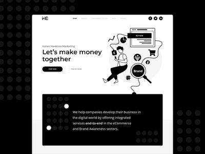 Marketing Landing Page WIP marketing marketing agency people adobe xd mockup design people illustration ui branding illustration design  front-end  back-end web design website clean design design