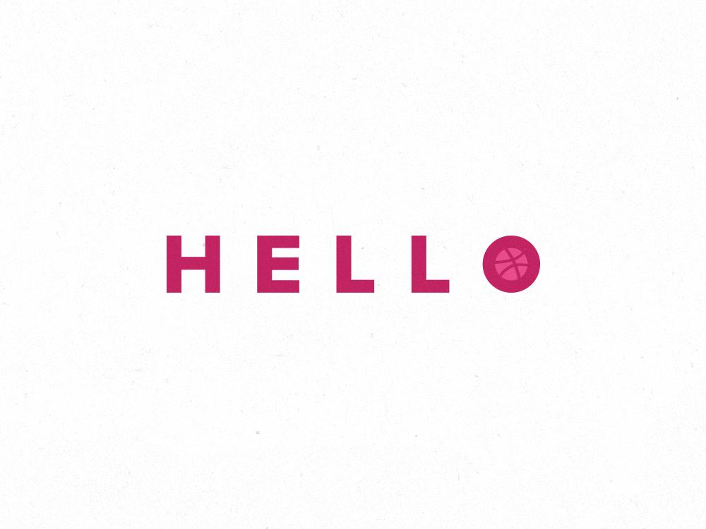 Hello Dribbble! debut debutshot
