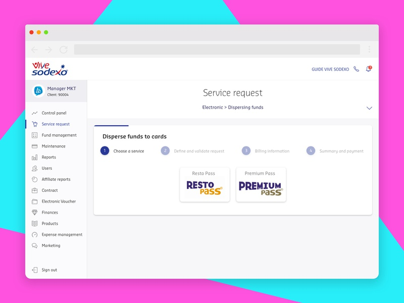 Sodexo | Admin Redisign by Franco A  González on Dribbble