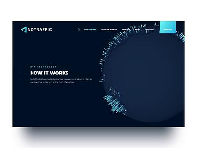NoTraffic Website traffic interaction backend frontend back-end front-end web development responsive development animation web design web ux ui design website