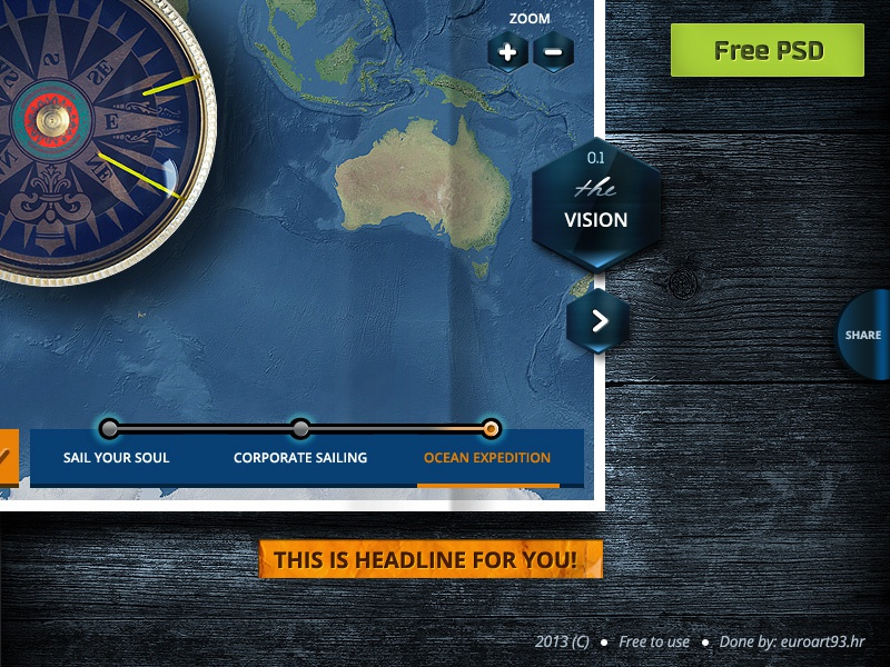 World Sailing freebie .psd development ux ui buttons map web sailing photoshop website