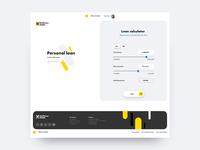 Online bank loan application website responsive animation development web design ui ux forms loan fintech website online banking e-banking banking